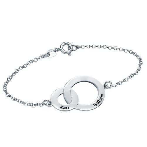 Interlocking Circles Custom Personlised Bracelet