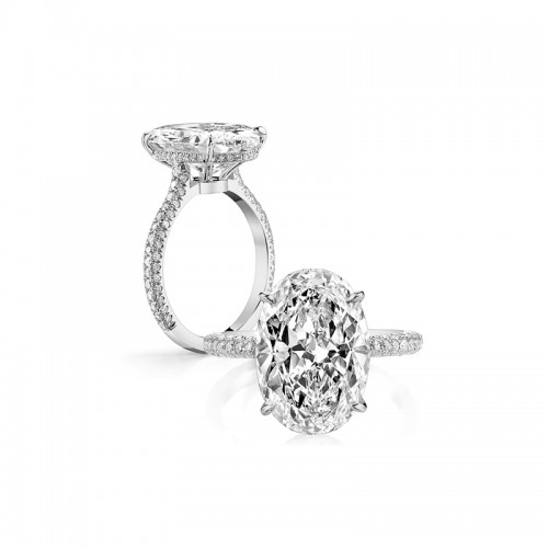925 Silver 5.0ct Zircon Engagement Ring