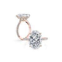 925 Silver 5.0ct  Engagement Ring - Gold