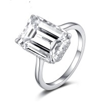 Emerald Cut 6 Carat SONA Diamond Ring
