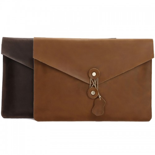 Leather Briefcase iPad Air Laptop Bag Protective Cover Sleeve Case for 10/ 11 / 12 / 13 / 14 / 15 MacBook