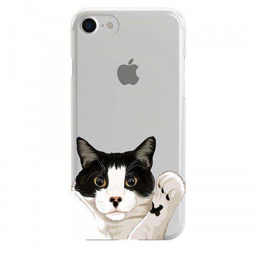 Custom illustrated Cat iPhone Case, Custom pet phone cases, Image illustration Case