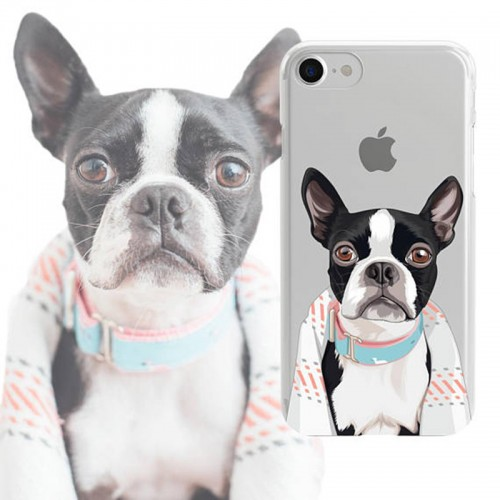 Personalised phone case, illustrated Dog iPhone Case, Custom pet phone Case