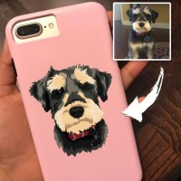 Custom illustrated Dog iPhone Case, Personalised phone case, Pet phone cases