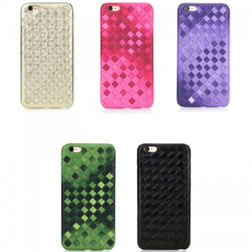 Anti-slip Cover Protective Anti-scratch Shell Woven Phone Case for iPhone 6 / 7 / 8, iPhone 6 plus / 7 plus / 8 plus