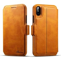 iPhone X For cCalfskin Flip Phone Case Apple 6/7/8 Car Split Two-in-one Leather Case