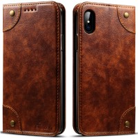 Wallet Phone Case for iPhone iPhone X / 10, iPhone 6 / 6S / 7 / 8, iPhone 6S Plus / 7Plus / 8 Plus Flip PU Leather Case with Card Slot, Brown